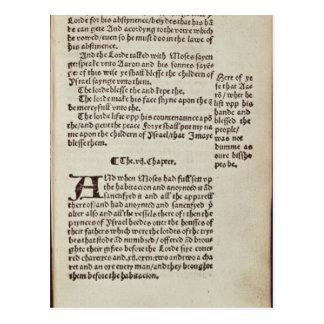 Postal Página del texto del viejo testamento