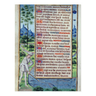 Postal Página del texto latino con la frontera