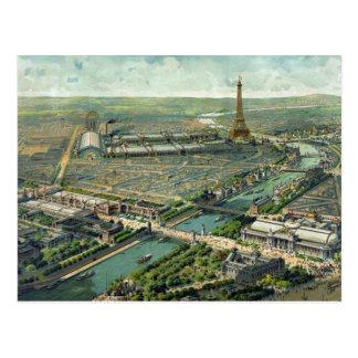 Postal Paisaje 1889 de París Francia