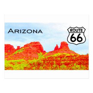 Postal Paisaje de la ruta 66 de Arizona