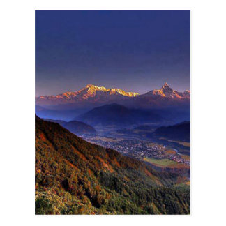 Postal Paisaje de la visión: HIMALAYA POKHARA NEPAL
