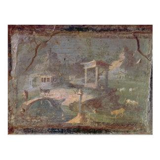 Postal Paisaje idílico, de Herculano,