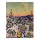 Postal Paisaje iluminado por la luna de Vincent van Gogh
