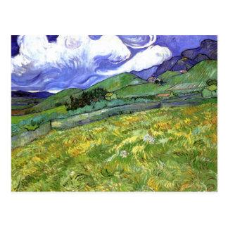 Postal Paisaje montañoso, bella arte de Van Gogh
