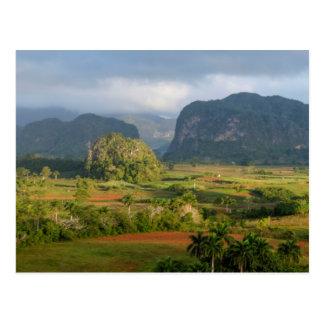 Postal Paisaje panorámico del valle, Cuba