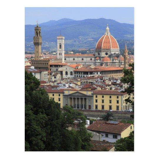 Postal Paisaje urbano de Florencia
