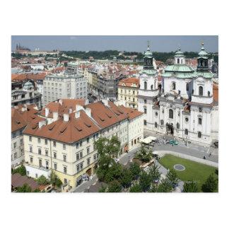 Postal Paisaje urbano de Praga histórica, República Checa