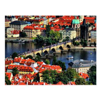 Postal Paisaje urbano de Praga, República Checa