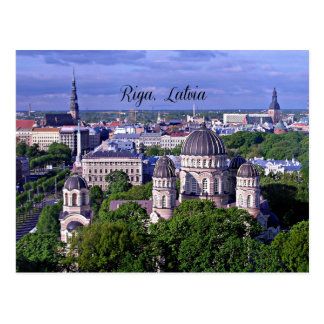 Postal Paisaje urbano de Riga, Letonia