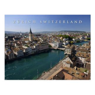 Postal paisaje urbano de Zurich Suiza