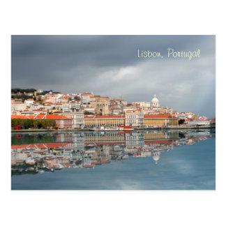 Postal Paisaje urbano escénico de Lisboa, Portugal