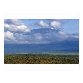 Postal Paisajes de la señal del monte Kilimanjaro