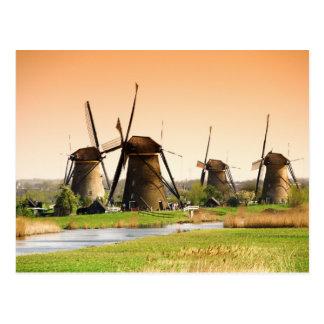 Postal Países Bajos, Kinderdijk. Molinoes de viento al