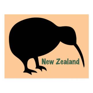 Postal Pájaro del kiwi - Nueva Zelanda