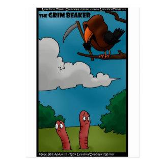 Postal Pájaros a los gusanos los regalos divertidos y las