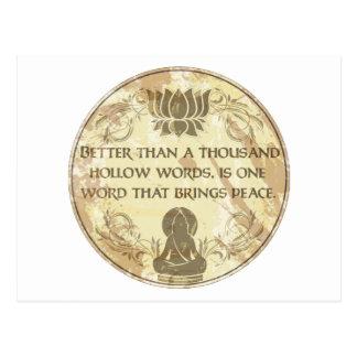 Postal Palabras huecos de Buda