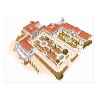 Postal Palacio del nacional de Queluz. Lisboa Portugal
