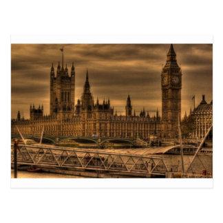Postal Palacio y Big Ben de Londres Westminster