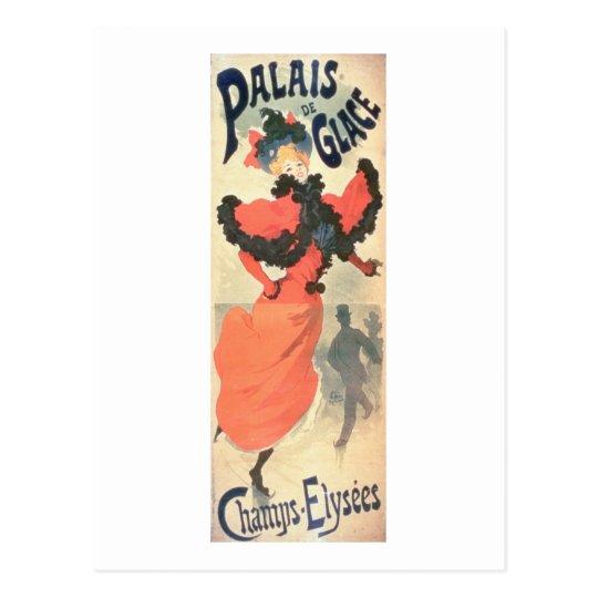 Postal Palais de Glace, campeones Elysees, París, 1894