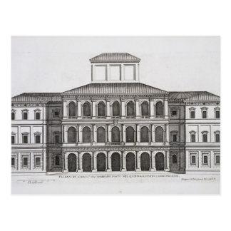 Postal Palazzo Barberini en el Quirinale, acabado 1630,