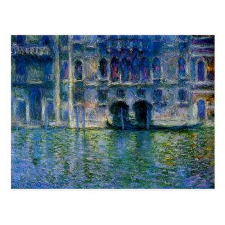 Postal Palazzo DA Mula en Venecia de Claude Monet