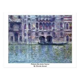 Postal Palazzo DA Mula Venecia de Claude Monet