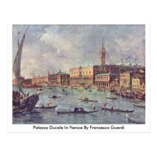 Postal Palazzo Ducale en Venecia de Francesco Guardi