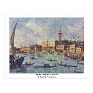 Postal Palazzo Ducale en Venecia de Guardi Francisco