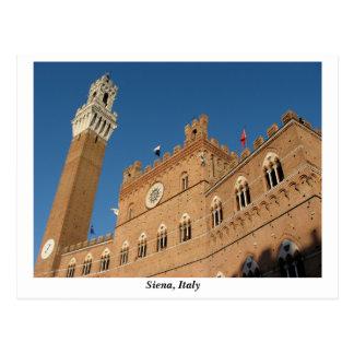 Postal Palazzo Pubblico, Piazza del Campo, Siena Italia