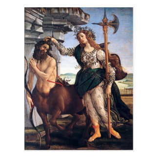 Postal Pallas y el Centaur, Sandro Botticelli