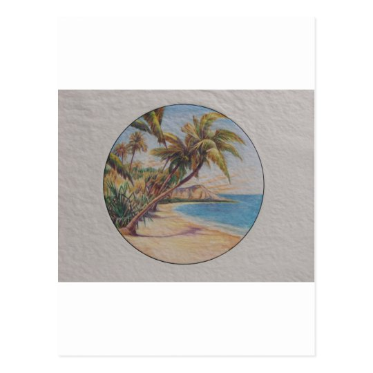 Postal Palmas tropicales