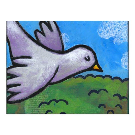Postal Paloma del cielo azul