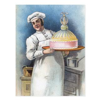 Postal Panadero del vintage