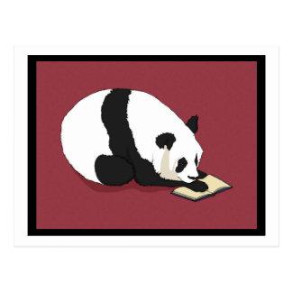 Postal Panda de la lectura