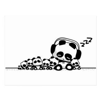 Postal Pandas el dormir