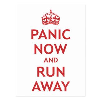 Postal Pánico ahora y funcionamiento lejos