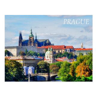 Postal Panorama del castillo de Praga