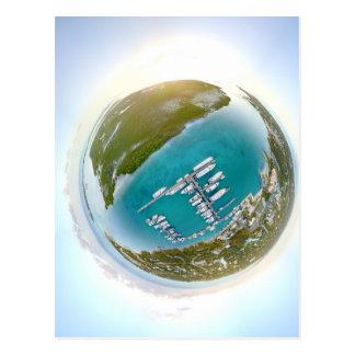 Postal Panorama minúsculo del planeta de los turcos y de