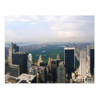 Postal panorámica del horizonte de New York City