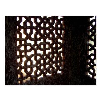Postal Pantalla de madera india de la ventana