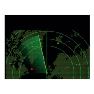 Postal Pantalla de radar retra