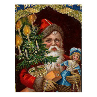 "Postal ""Papá Noel feliz """