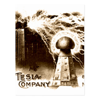 Postal Papel con membrete de Tesla