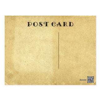 Postal Papel de pergamino manchado envejecido antigüedad