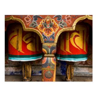 Postal Papel de rogación budista, Bhután