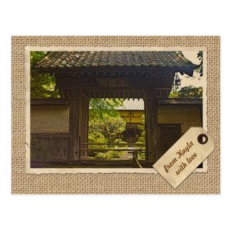 Postal Papel del vintage del templo de Kamakura Japón