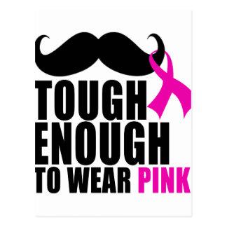 Postal Para llevar el rosa para la conciencia del cáncer