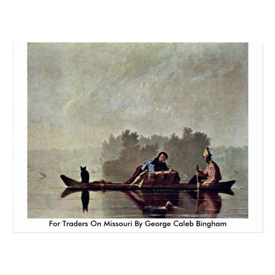 Postal Para los comerciantes en Missouri de George Caleb