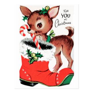 Postal Para usted en el reno del navidad