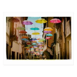 Postal Paraguas flotantes